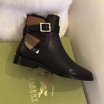 Burberry fashion Martin boots