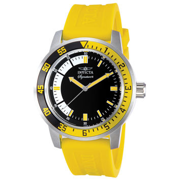 Invicta 7463 Men's Signature II White & Black Dial Yellow Rubber Strap Watch