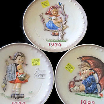 Vintage Hummel Collector Plates Choice of 1976, 1980 and 1982