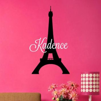 Eiffel Tower Name Decal