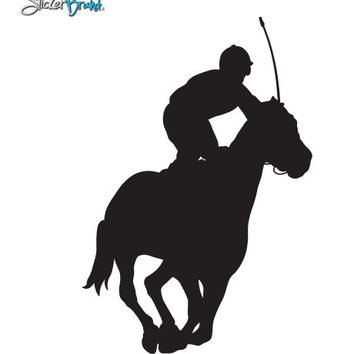 Vinyl Wall Decal Sticker Jockey Horse Race #399