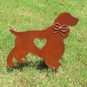 Springer Spaniel Dog Metal Garden Stake - Metal Yard Art - Metal Garden Art - Pet Memorial 2
