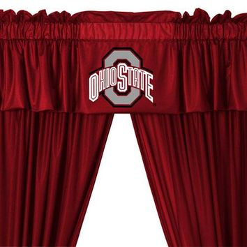 NCAA Ohio State Buckeyes 5pc Curtains and Valance Set