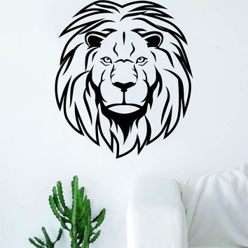 Lion Face V17 Decal Sticker Wall Vinyl Art Home Decor Teen Animal Beautiful King of the Jungle