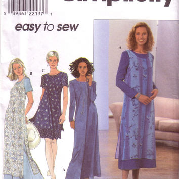 Simplicity 8379, Misses Flared Dress, Overdress, Size 12, 14, 16