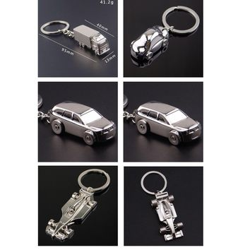 1 PC 72mm 95mm High Quality Alloy Creative 3D Solid Alloy Cars Keychains Jeep Truck Key Rings Key Chains Girl/Boy Friend Gift