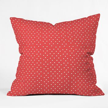 Allyson Johnson Red Dots Throw Pillow