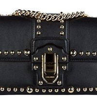 Dolce&Gabbana women's leather shoulder bag original lucia black