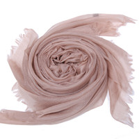 Lightweight Cashmere Scarf, Coffee, Scarves
