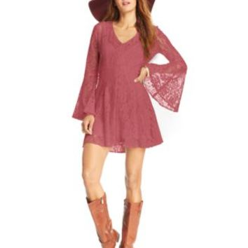 American Rag Bell-Sleeve Lace Mini Dress | macys.com