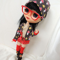 Autum pullip outfit,  also for purenemo, azone, momoko, blythe, obitsu, ... doll size1/6