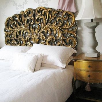 Gold Gilt Rococo Headboard  |  Headboards  |  Beds & Mattresses  |  French Bedroom Company