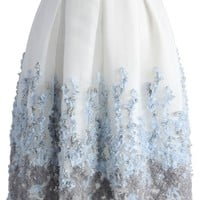 Lavender Paradise Organza Pleated Skirt