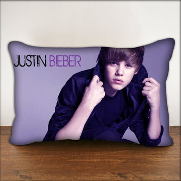 "Justin Bieber - Pillow Cover in Size 18""x18"" and 30""x20"""