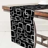 Heather Dutton On The Quad Black Table Runner