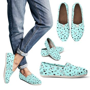 RX Eye Glasses Pattern Casual Shoes-Clearance