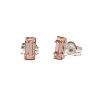 Tiny Baguette Studs Rose Gold
