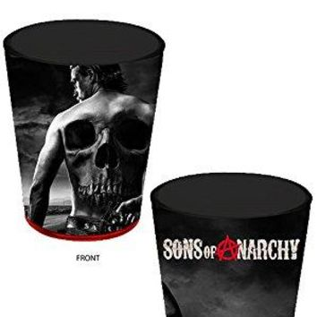 1.5oz Sons of Anarchy OFFICIAL Jax Teller Skull Tattoo PREMIUM Black Shot Glass Novelty GIFT