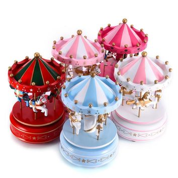 Romantic Carousel Music Box.  Artistic and Excellent Construction