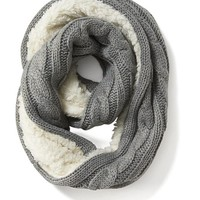 Old Navy Womens Faux Fur Lined Scarf Size One Size - Grey