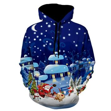 Winter 3d Hoodies Hooded Sweatshirts Men Women Christmas Gifts Santa Claus print Male Tops Hoody Fashion Casual Female Pullover