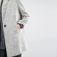 Suncoo | Suncoo Eloi Coat in Herringbone Tweed at ASOS