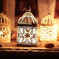 Decorative Hanging Lantern Vintage Candlesticks
