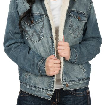 Wrangler Women's Denim Sherpa Lined Jacket