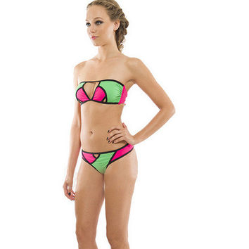 Hot Swimsuit New Arrival Summer Beach Stylish Swimwear Ladies Sexy Mosaic Bikini [6048210113]
