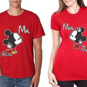 Couple T-Shirt MR MRS Soul Mate Valentine Day