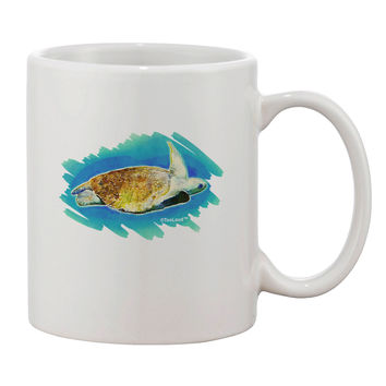 Turtle Watercolor Printed 11oz Coffee Mug