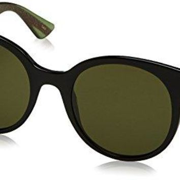 Gucci Women GG0035S 54 Black/Green Sunglasses 54mm