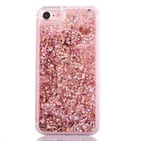 Fashion Dynamic Liquid Glitter Colorful Paillette Sand Quicksand Hard PC Back Cover Phone Case For iPhone 5 5S SE 6 6S 7 Plus