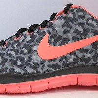 Nike Womens Shoes FREE TR 3 PRINT ATOMIC PINK LEOPARD BLACK WHITE cheetah