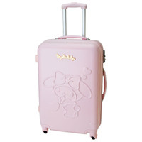 My Melody Zip Around Travel Carry Bag Suitcase Relief Pink Large Size TSA SANRIO JAPAN