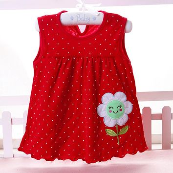 Baby Girls Infantile Summer Flower Style Dress
