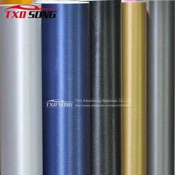 Car styling Black Dark Grey Silver Metallic Brushed Aluminum Vinyl car Wrap Film Size 10/20/30/40/50/60cm x 152cm/Lot for choice