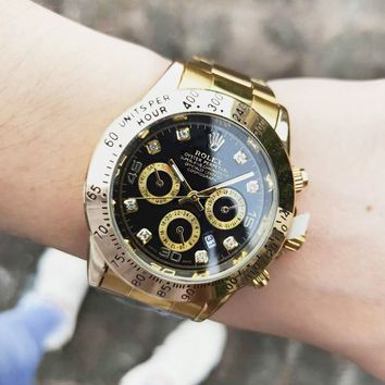 Rolex Classic Fashion New Movement Watch Business Wristwatch Women Men Watches Golden