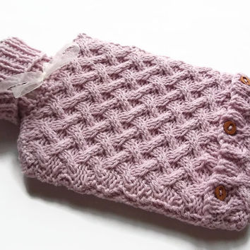 Hot water bottle cover and two litre  hot water bottle in cream included