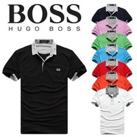 Hot Sale HUGO BOSS MEN Polo Shirt 100% COTTON TOP