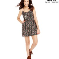 Aeropostale  Womens Calico Print Open-Back Sundress