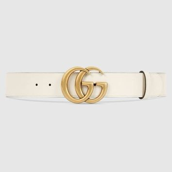 *Brand NEW* White Gucci Belt 75 with Gucci Box/Bag