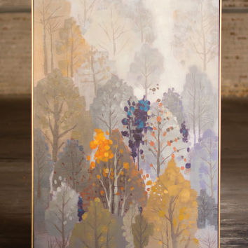 Oil Painting- Trees Landscape with Gold Frame