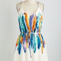 ModCloth Short Length Sleeveless A-line You're All I Need to Get Fly Dress