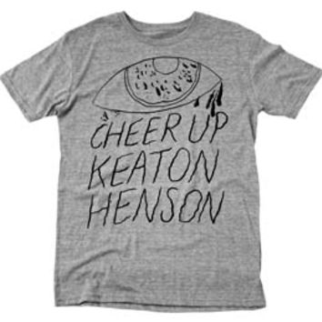 Keaton Henson - GREY CHEER UP KEATON HENSON TSHIRT