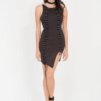 Tie For The Finish High-Low Minidress