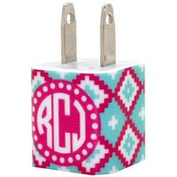 Monogram Blue Moccasin Phone Charger