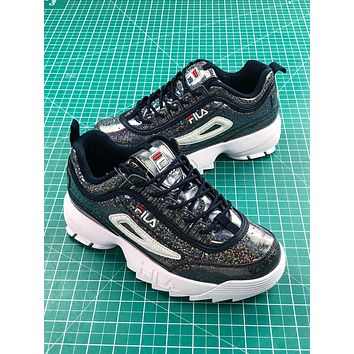 Fila Disruptor Ii 2 Black Shiny Fashion Shoes