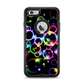 The Glowing Neon Bubbles Apple iPhone 6 Plus Otterbox Defender Case Skin Set