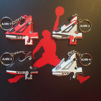 Air Jordan 4 number keychain